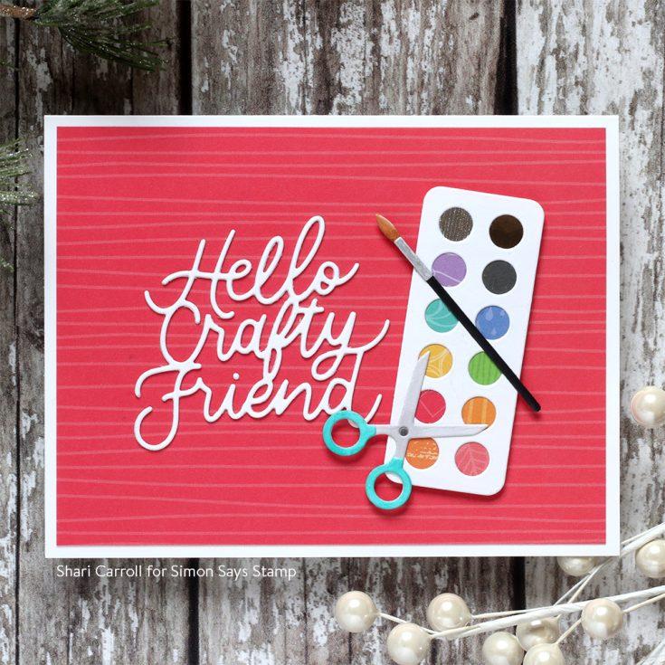 DieCember® Blog Hop Shari Carroll Hello Crafty Friend and Art Supplies dies