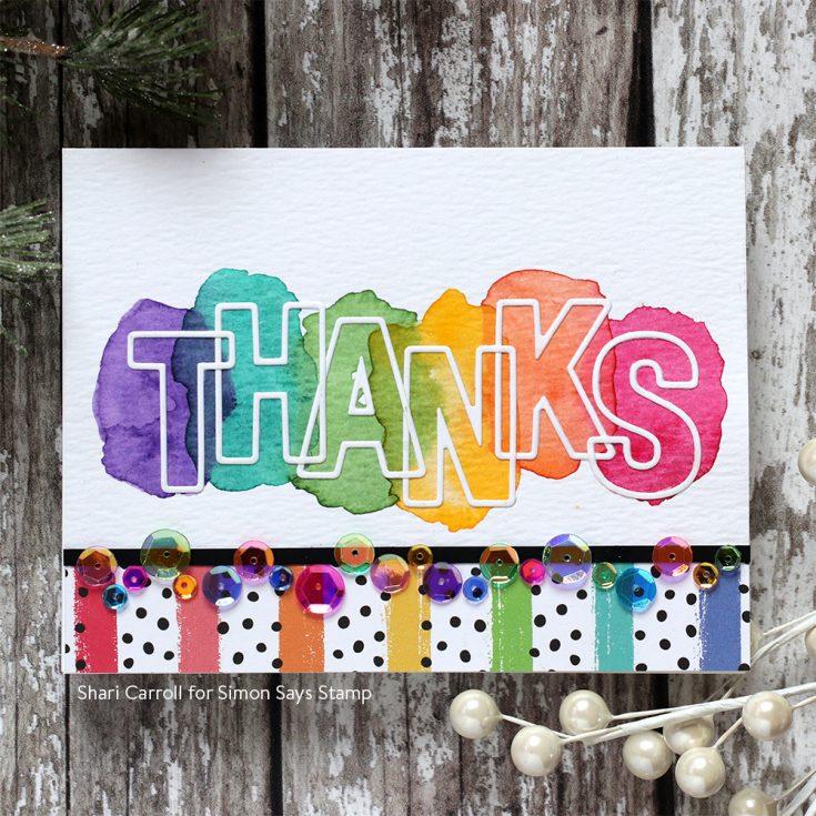DieCember® Blog Hop Shari Carroll Large Outline Thanks die