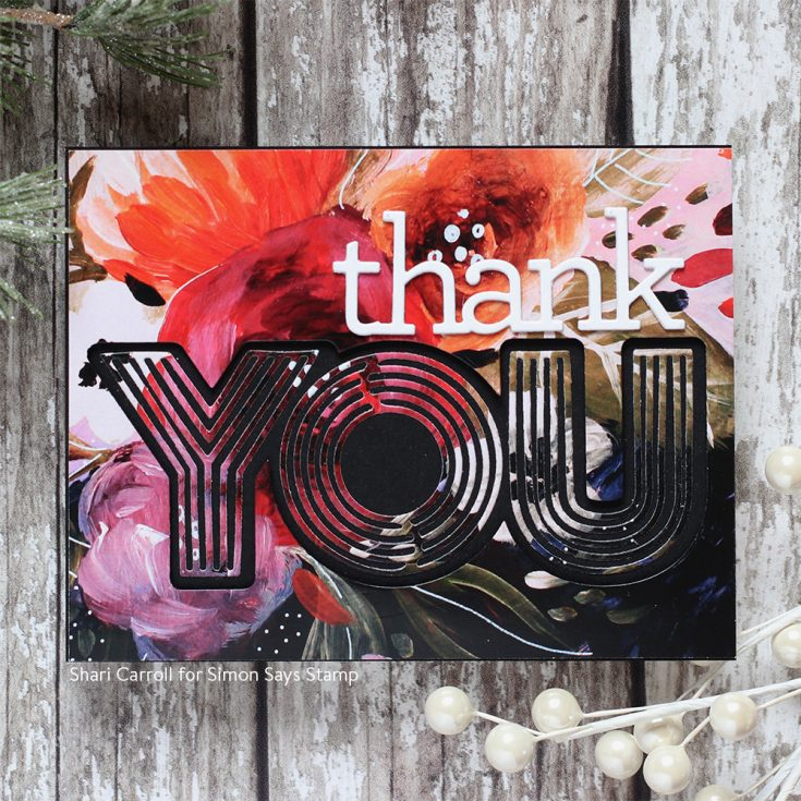 DieCember® Blog Hop Shari Carroll Lined You and Thank You dies