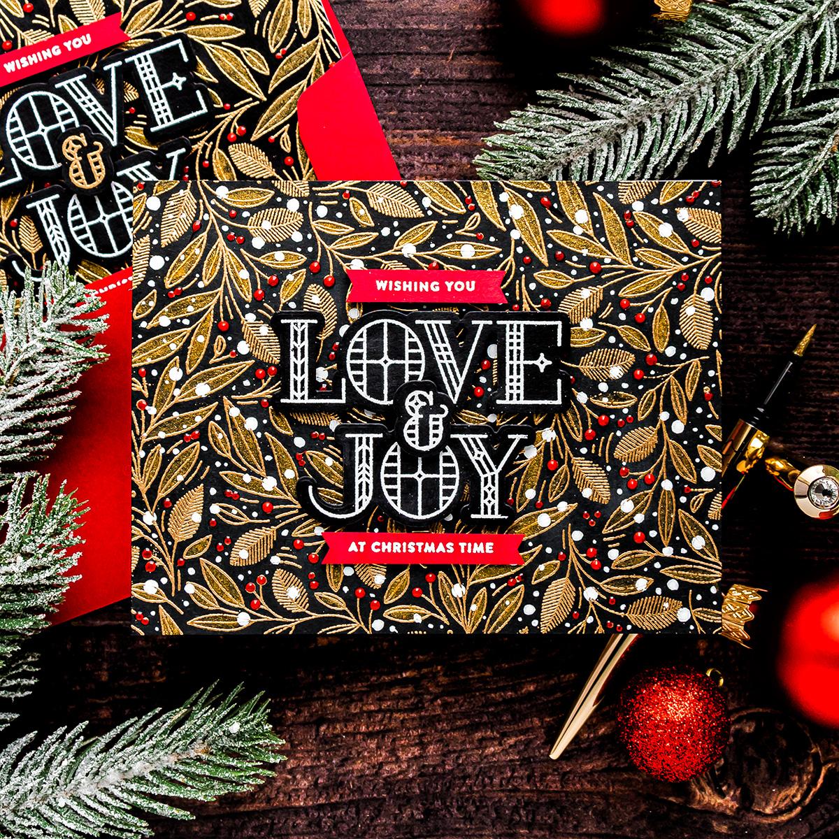 yippee for yana modern christmas cards  simon says stamp