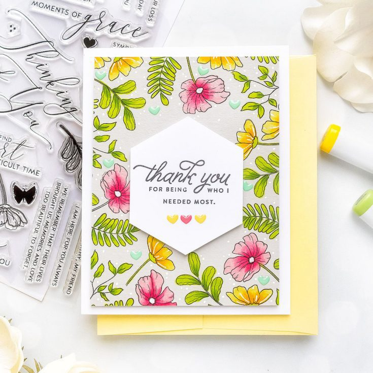 Yana Smakula Simon Says Stamp January 2020 Throwback Thursday Love Messages and Moments of Grace stamp sets