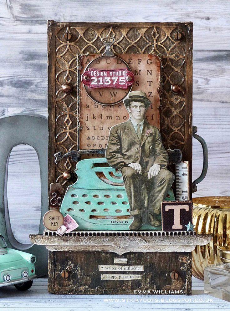 Retro Type Vignette Tray - Simon Says Stamp Blog