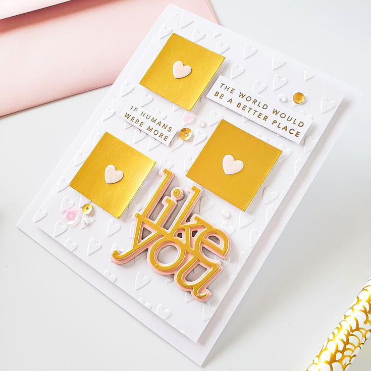 United We Craft Blog Party Yasmin Diaz Like You Words stamp set and Like You dies