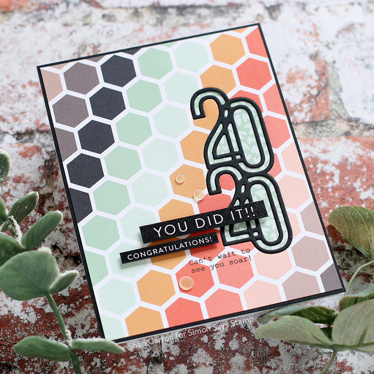 Sunny Days Ahead Blog Hop Shari Carroll 2020 die, Luck and Hugs stamp set, and Reverse Grad Strips