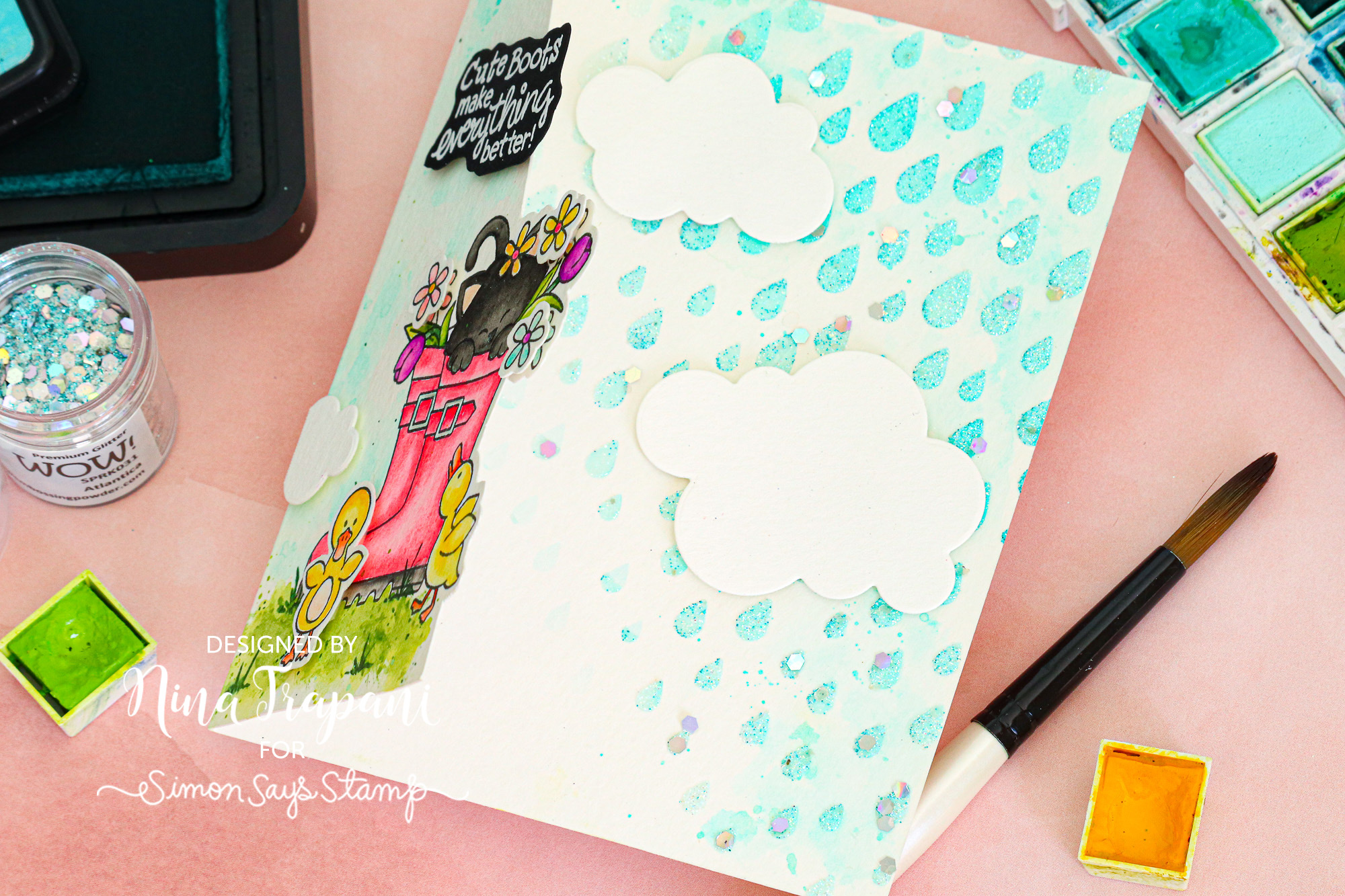 Studio Monday With Nina Marie Fun Fold Card Featuring Newton S Nook Simon Says Stamp Blog