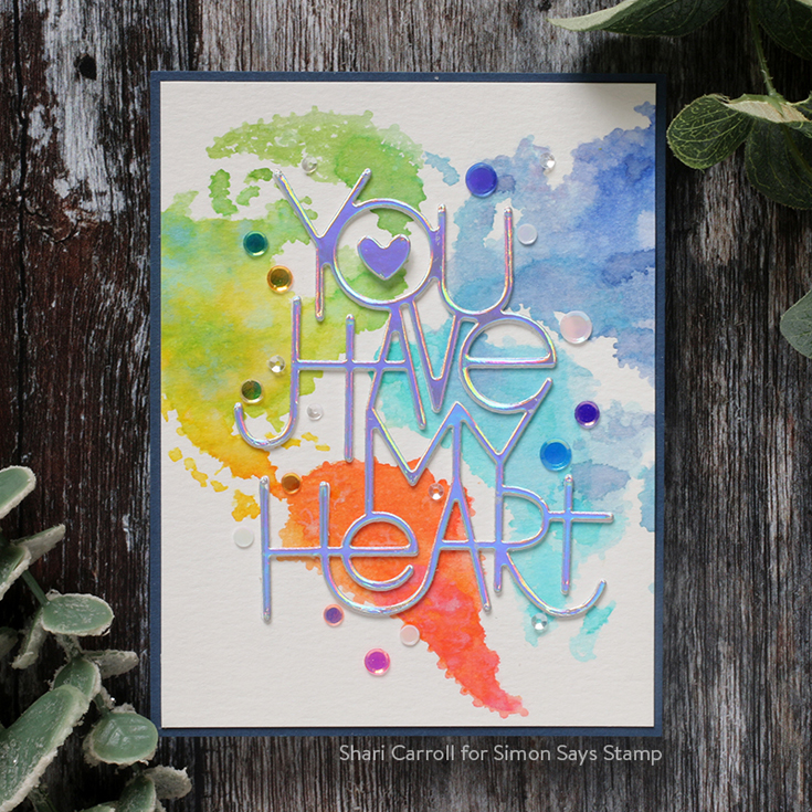 Crafty Hugs Blog Hop Shari Carroll World of Love background stamp and You Have My Heart die