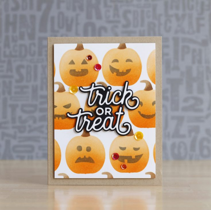 Laura Bassen Simon Says Stamp August 2020 Throwback Thursday STAMPtember® Edition Trick or Treat die and Jack O'Lanterns stencil
