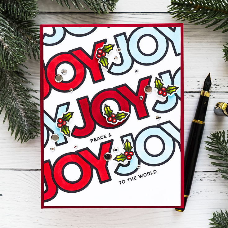Yana Smakula Simon Says Stamp World Card Making Day 2020 Chunky Christmas stamp set