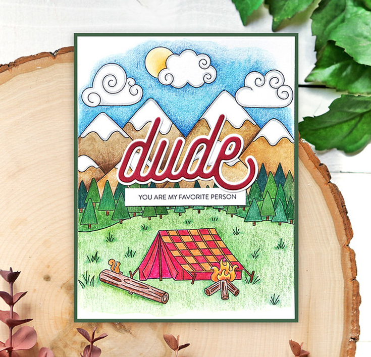 Suzy Plantamura Simon Says Stamp July 2021 Throwback Thursday Dude die and Celebrate Dad watercolor cards